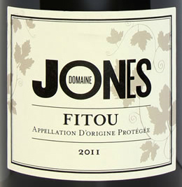 Fitou - domaine jones label